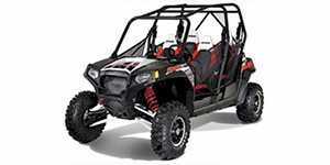 2012 Polaris Ranger RZR 4 800 EPS Robbie Gordon Edition Black / White / Red LE